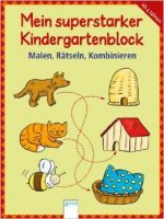 Mein superstarker Kindergartenblock - Malen, Rätseln, Kombinieren