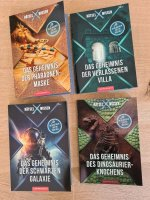 Rätsel X Wissen:  -Das Geheimnis der Pharaonenmaske -Das Geheimnis der verlassenen Villa -Das Geheimnis der schwarzen Galaxie -Das Geheimnis des Dinosaurierknochens
